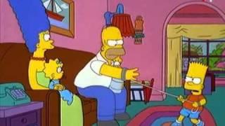 """""""Сімпсони"""". Гомер і Барт. """"Ходімо, тату, я хочу в туалет"""""""