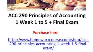 acc 290 week 5 final exam 1 acc 290 final exam 1 which financial statement is used to determine cash generated from operations a income statement b statement of operations c statement of cash flows d retained earnings statement 2 in terms of sequence, in what order must the four basic financial statements be.