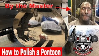 DIY how to polish a Pontoon Part 2 (Finishing)