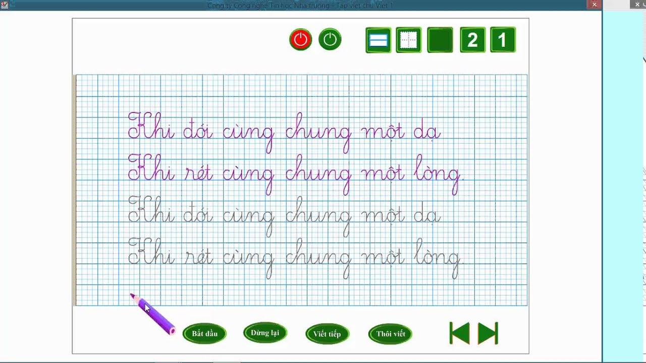 Giới thiệu phần mềm Tập viết chữ Việt 3