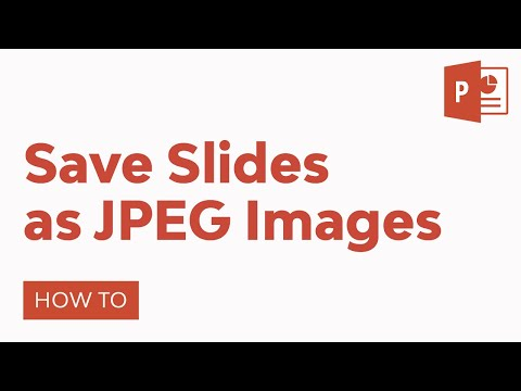 How to save a slide as a jpeg in powerpoint 2020
