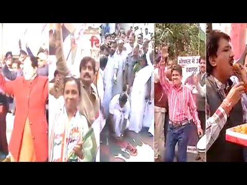 Congress workers celebrate Rahul Gandhi's elevation