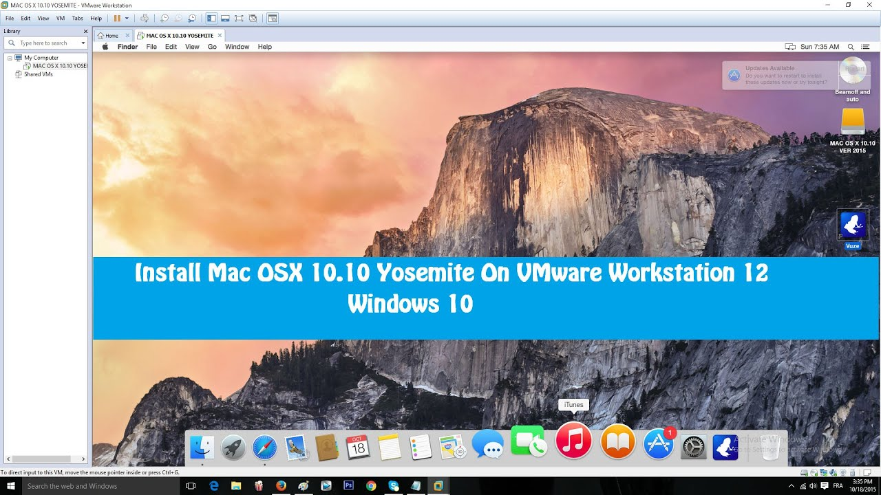 vmware workstation mac os on windows 10