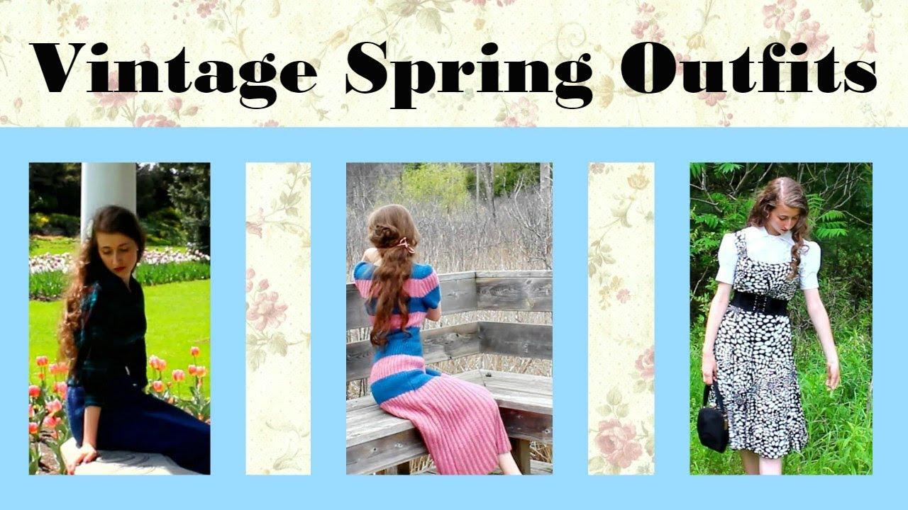 3 Vintage Spring Outfits Lookbook 2018 1