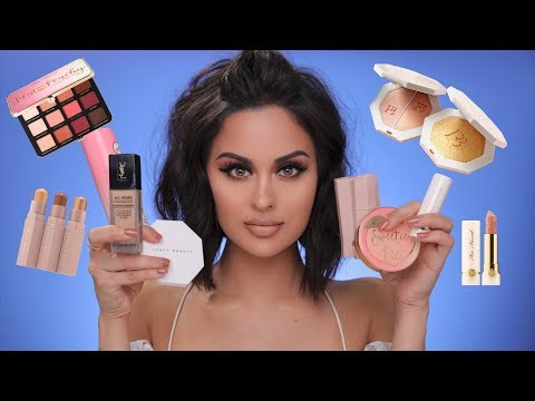FULL FACE OF FIRST IMPRESSIONS | Fenty Beauty, Too Faced , YSL & More
