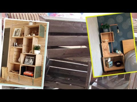 70 awesome DIY projects  wooden crates in country design