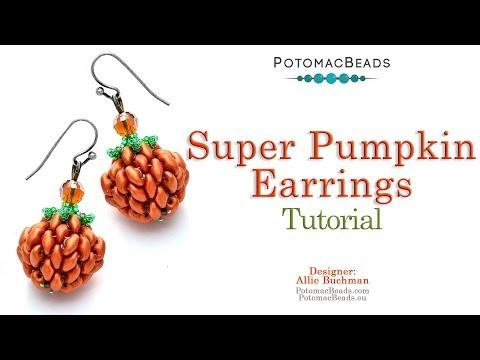 Super Pumpkin Earrings - DIY Jewelry Making Tutorial by PotomacBeads thumbnail