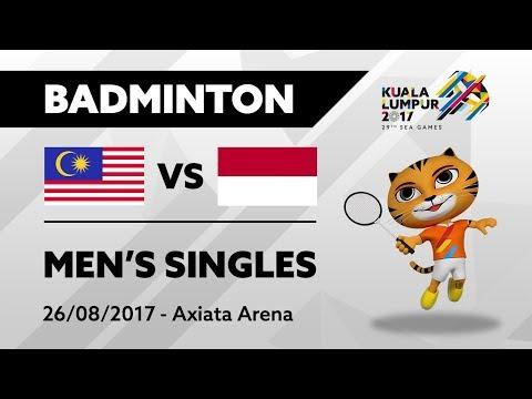 KL2017 29th SEA Games | Badminton - Men's Singles - MAS 🇲🇾 vs INA 🇮🇩 | 26/08/2017