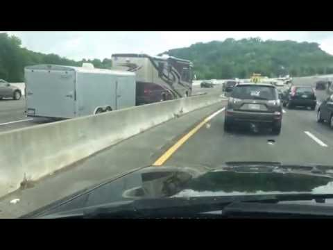 (RAW) Nashville Metro Office hit by RV on I-65 N - May 10 2014