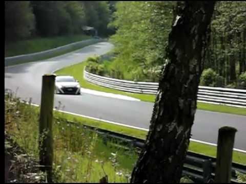 Nurburgring 24 Hours 2012 - Nissan GTR in slow motion 240fps