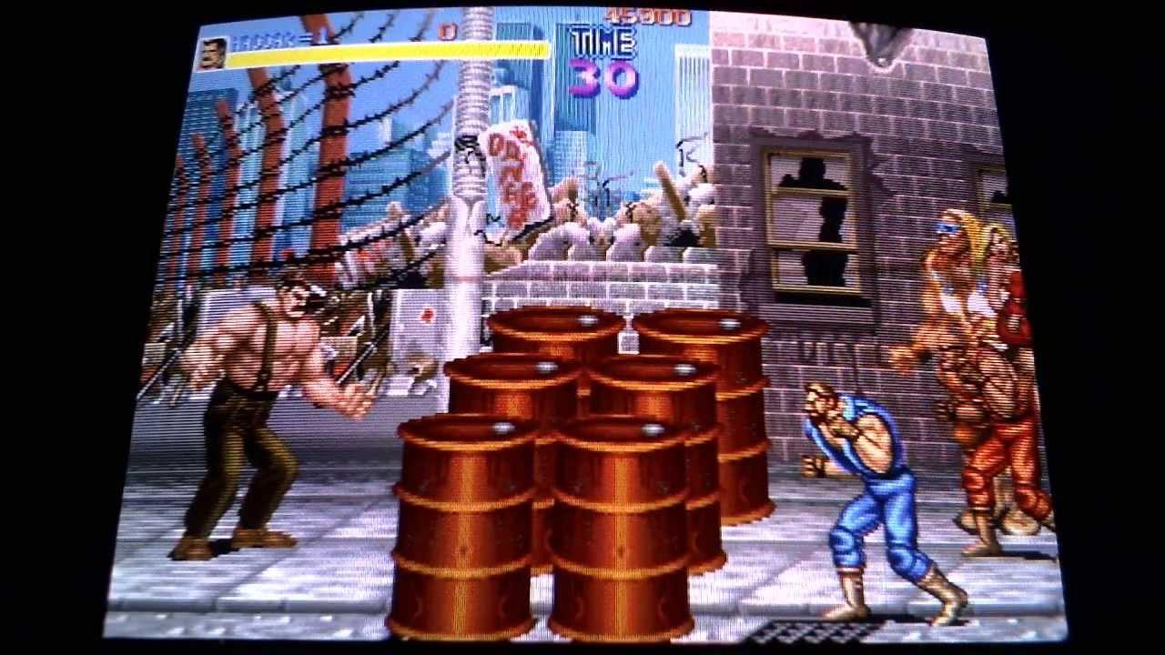 Arcade Classics On Crt Tv Mame Emulation Final Fight