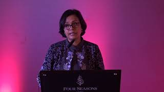Sambutan Menteri Keuangan, Ibu Sri Mulyani Indrawati (Signing Jalan Tol Bakauheni - Terbanggi Besar)
