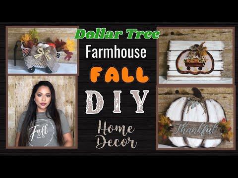 DOLLAR TREE FARMHOUSE DIY FALL DECOR