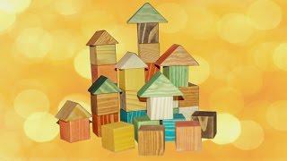 Игрушки из дерева/Цветные кубики