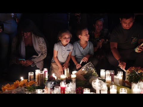 Vigils held across US for Las Vegas shooting victims – video