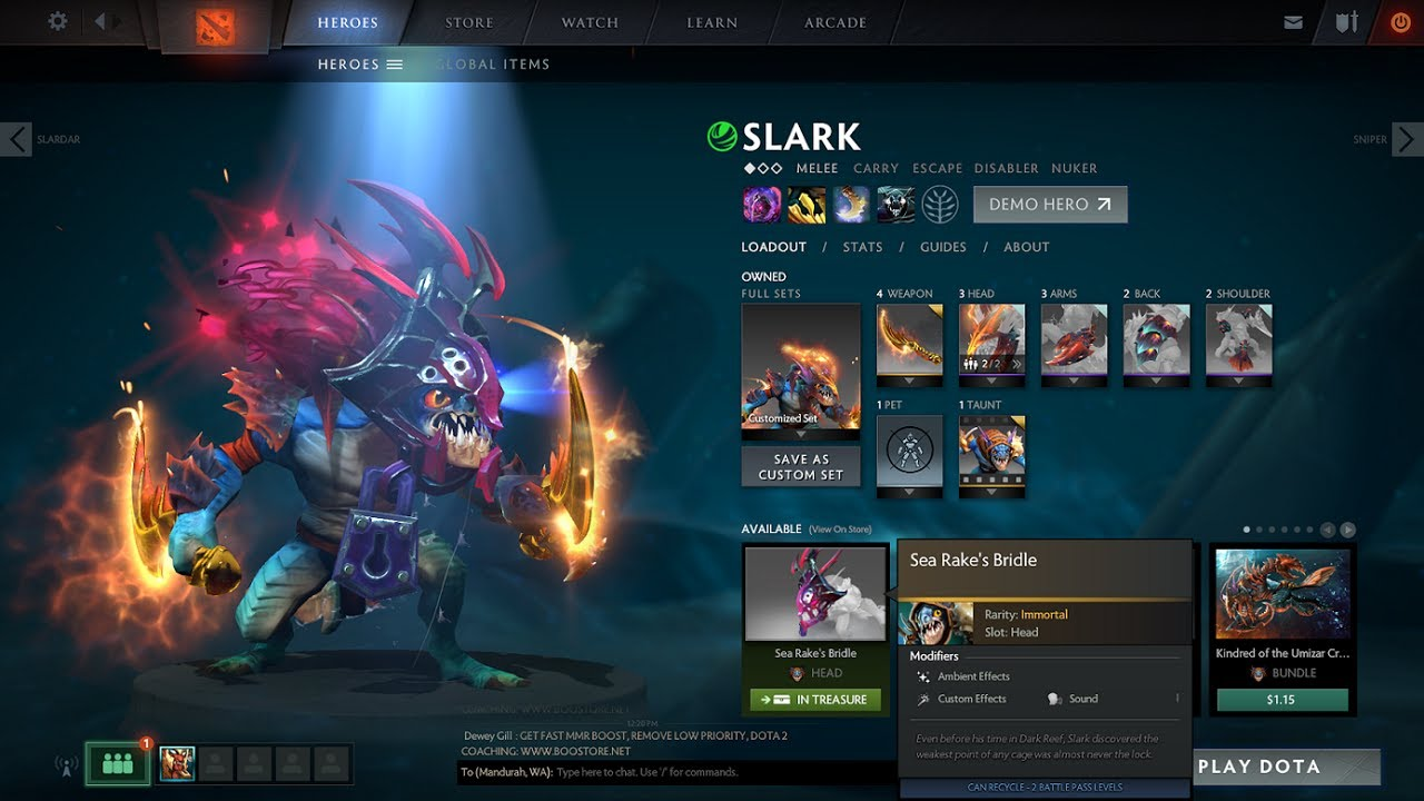 Dota 2 Immortal 14: Another Try At Slark Ultra Rare!