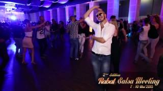 Badr Qebibo & Sandra - salsa dancing @ RABAT SALSA MEETING 2015