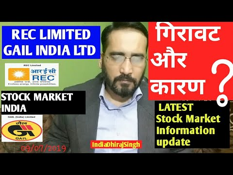 REC LIMITED COMPANY GAIL INDIA LTD NAVRTANA  COMPANY गिरावट और कारण LATEST Stock Market Information