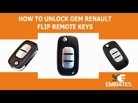 How To Unlock OEM Renault Flip Remote Keys via MK3