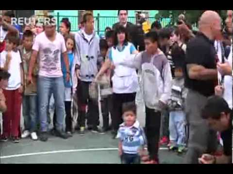 Rafael Nadal at the Tennis Clinic in Buenos Aires Argentina 11/19/13
