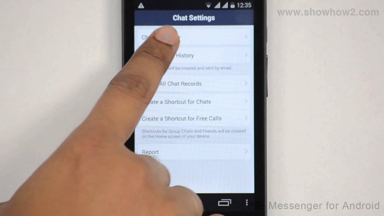 Line Messenger , How To Set Wallpaper For A Chat