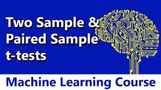Machine Learning #57 Two Sample & Paired Sample t-tests   Hypothesis Testing