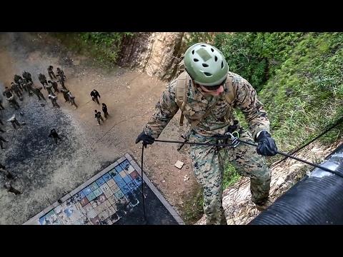 Infantry Marines – Rappel & CASEVAC Training