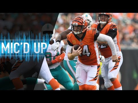 "Andy Dalton Mic'd Up vs. Dolphins ""Everybody Chill"" 