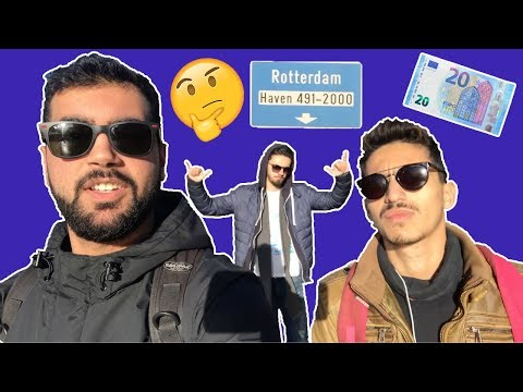 #2nd Vlog - Enjoying our trip to Rotterdam with only 20 € !!!