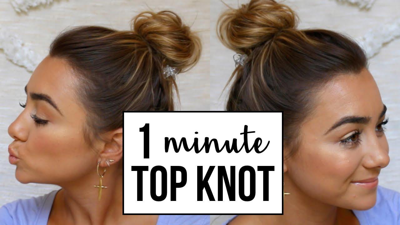 easy top knot bun | for fine hair & thin hair - youtube