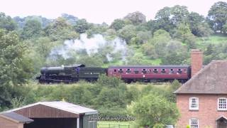 (HD)Steam Trains, Victoria Bridge Part2 15thAugust 2009 Severn Valley Railway