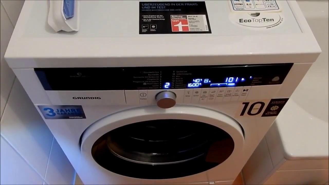 Grundig waschmaschine gwa 48630 youtube
