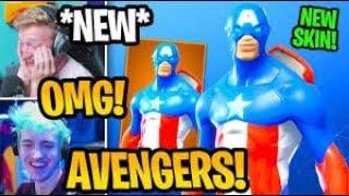 *NEW* AVENGERS SKINS IN FORTNITE (AVENGERS ENDGAME)