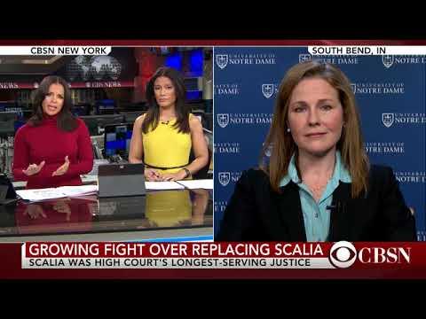 Interview with Amy Coney Barrett regarding death of Antonin Scalia