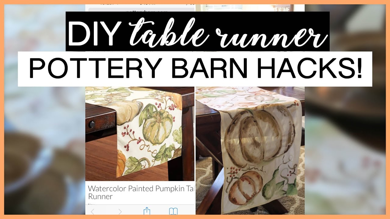 DIY FALL TABLE RUNNER | Pottery Barn Hacks!