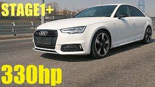 ТЕСТ ДРАЙВ AUDI A4 B9 Stage1 330HP - KIA STINGER V6 не нужен!