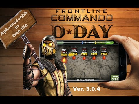 Frontline commando d day 3.0.4 mod apk +obb offline in android unlimited every thing by skndroid