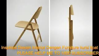 Inspirasi Desain Interior Dengan Furniture Kursi Lipat Dari Kayu