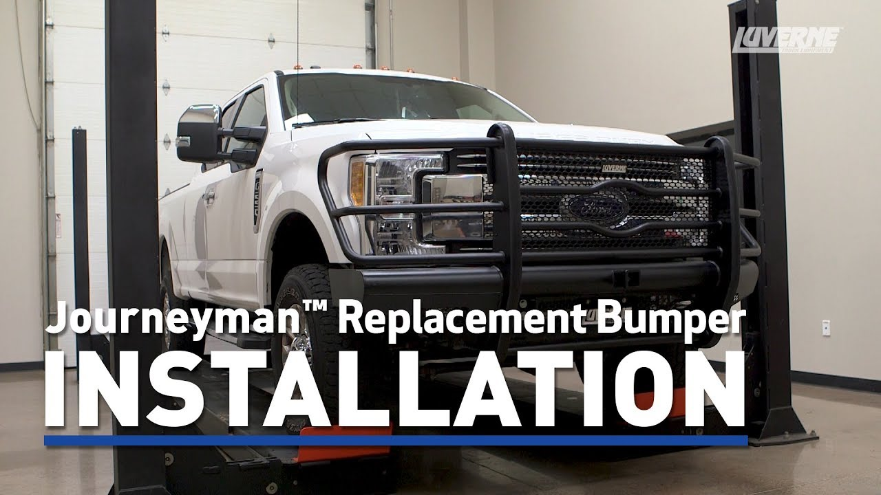 luverne install journeyman replacement bumper on ford f350 super duty 191722 [ 1280 x 720 Pixel ]