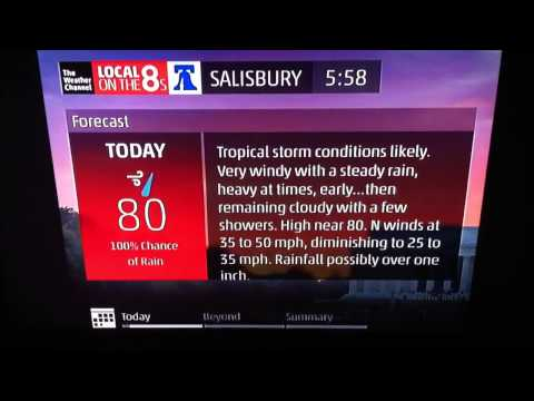 Hurricane Arthur - The Weather Channel Local on the 8s Intellistar - July 4, 2014
