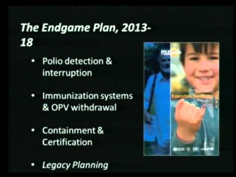 Dr Bruce Aylward, World Health Organisation, talking Polio and the final steps