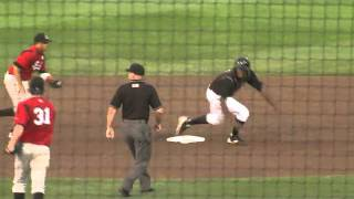 Triple Play After Ball Bounces Off Centerfielder