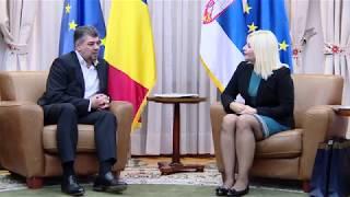 12/8/17: Belgrad, Serbia - Intalnire bilaterala Dl Marcel Ciolacu cu Dna Zorana Mihajlovic
