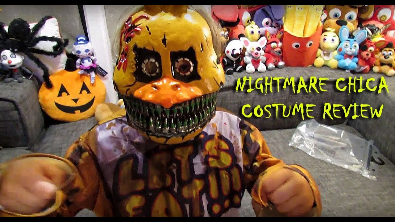 NIGHTMARE CHICA Child Costume UNBOXING Review HALLOWEEN| FNAF Five Nights at Freddyu0027s| OskieWhiskie & NIGHTMARE CHICA Child Costume UNBOXING Review HALLOWEEN| FNAF Five ...