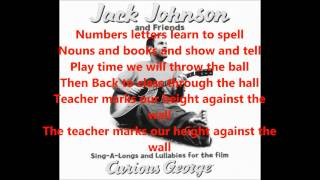 JACK JOHNSON we´re going to be friends lyrics
