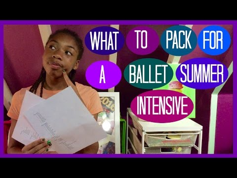 What To Pack For A Ballet Summer Intensive | Life As Gabi♡♡♡