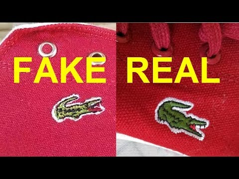 Real Vs. Fake Lacoste Shoes. How To Spot Fake Lacoste Footwear