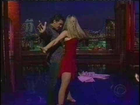 David Letterman: Antonio Banderas and Marianne Hettinger salsa