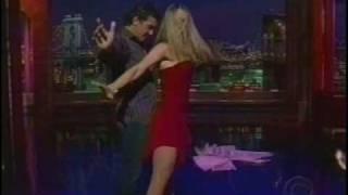 David Letterman: Antonio Banderas and Marianne Hettinger salsa