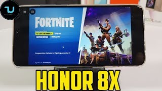Honor 8X Fortnite Gameplay/PC Game on Android/Vortex App/Kirin 710